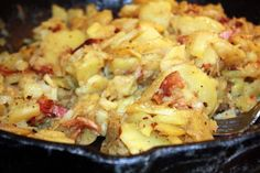 warm german potato salad FANTASTIC RECIPE!!! (just needs to be finished with chopped green onions) :)