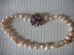 Sale+Pink+Fresh+Water+Pearl+And+Vintage+by+AtticAntiquesVintage