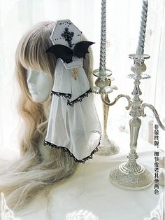 Gothic Lolita Fashion, Gothic Outfits, Girly Outfits, Flower Hair Clips, Flowers In Hair, Headdress, Headpiece, Female Character Inspiration, Steampunk Clothing