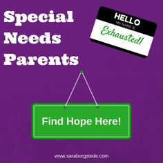 A resource page for Special Needs Parents. Click for help, encouragement, and ideas.
