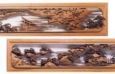 木彫 南部白雲 作品 欄間
