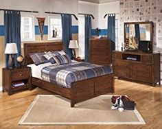 Ashley Furniture Signature Design – Delburne Dresser – 6 Drawers and 1 Cubby – Casual Youth – Medium Brown