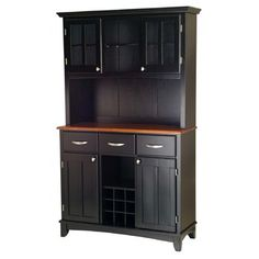 Dining room hutch ideas: make it wider, bring the glass doors down to the counter top and make a bigger drawer in the middle with two smaller ones.