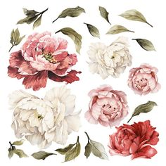You asked for it and we listened....the giant peonies in all pinks and white. It will be spring every day in your home with these amazing watercolor peony wall stickers. With each peony, a gorgeous work of art on its own, it will look like a garden on your wall, whatever the season. Wallpaper is making a comeback in a big way this year, but with a decidedly modern spin. Big and bold statement making designs are everywhere these days. With these large floral wall decals, your friends will…