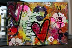 Listen, Hear and Dance - One of a Kind Lined Journal | Flickr - Photo Sharing!