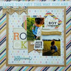 Shop the largest selection of scrapbooking supplies in the world. Get scrapbook paper, die cut machines, dies, stickers stamps and more. Kids Scrapbook, Scrapbook Supplies, Scrapbooking Layouts, Scrapbook Paper, Multi Photo, Echo Park, Layout Inspiration, Mini Albums, My Boys
