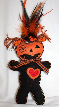 Pumpkin Voodoo Wishing Doll by arcaneharvest on Etsy, $21.00  I own pieces by this artist, Randi Marx.  They are enhanting.  Recommend!