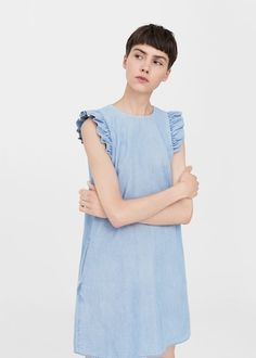 Discover the latest trends in Mango fashion, footwear and accessories. Shop the best outfits for this season at our online store. Mango Fashion, Urban Fashion, Moda Mango, Womens Denim Dress, Short Dresses, Girls Dresses, Mango France, Evening Dresses, Ruffles