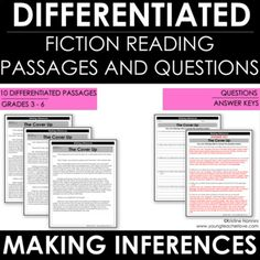 Reading Comprehension Passages and Questions Figurative Language Differentiated 3rd Grade Classroom, School Classroom, Classroom Ideas, Reading Comprehension Passages, Comprehension Strategies, Reading Themes, Figure Of Speech, Making Inferences, Context Clues