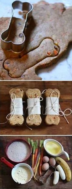 DIY Pets : Homemade Natural Dog Treat Recipe Homemade Natural Dog Treat Recipe Sharing is caring, don't forget to share ! Puppy Treats, Diy Dog Treats, Homemade Dog Treats, Dog Treat Recipes, Dog Food Recipes, Natural Dog Treats, Dog Cookies, Dog Biscuits, Diy Stuffed Animals