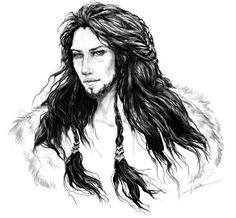 'The Hobbit' fanart: Dis by Kotorigaro. Dis was the mother of Fili and Kili, and the sister of Thorin Oakenshield.