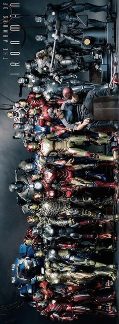 All the suits of Iron Man