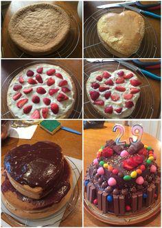 Birthday cake kit kat m&ms facon fraisier. #cooking #birthday cake