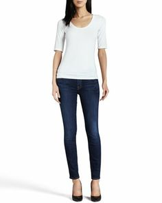 7 For All Mankind The Skinny Cropped Jeans - Neiman Marcus