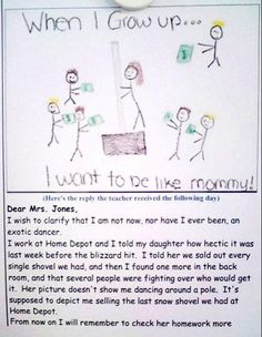 When i grow up, Letter to teacher Fail!  I've seen this several times and I laugh everytime!