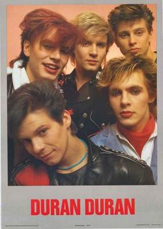 An awesome poster of Simon Le Bon and the biys from Duran Duran in their 80's prime! Published in 1983. Fully licensed. Ships fast. 24x35 inches. Check out the rest of our excellent selection of Duran