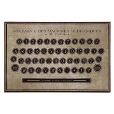Antiqued Keyboard 26.63 Inch Vintage Decorative Art Uttermost Wall Art Wall Art Home Decor