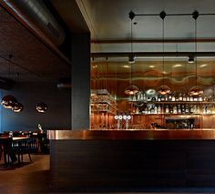 Union Restaurant by Aurélie Blanchard.  That brass is gonna fingerprint like CRAZY....