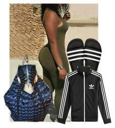 """3 strips"" by bbylex23 on Polyvore featuring adidas Originals and adidas"