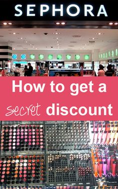 SEPHORA - How to get a secret discount. The holy grail of beauty pins. This will even work with the Black Friday Sephora deals! All Things Beauty, Beauty Make Up, Diy Beauty, Beauty Hacks, Too Faced, Covergirl, Dandy, Urban Decay, Maybelline