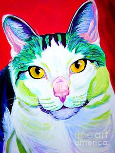 Cat - Zooey by Alicia VanNoy Call - Cat - Zooey Painting - Cat - Zooey Fine Art Prints and Posters for Sale