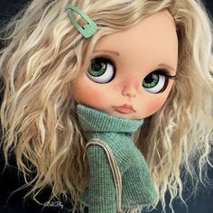 Cutie of the Day  by Belen de la Morena (BelBly) Check more than 300 Blythe Doll Customizers at www.dollycustom.com