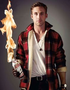 Ryan Gosling.. hes about to make us a bonfire <3
