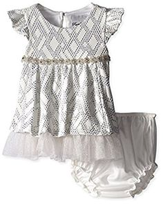 Amazon.com: Rare Editions Baby Baby-Girls Infant Textured Knit Social Dress: Clothing