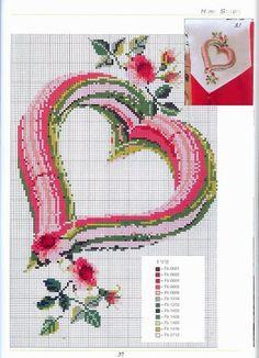 Cross-stitch Colorful Heart & Flowers... předlohy na vyšívání - Martina - Picasa Web Albums
