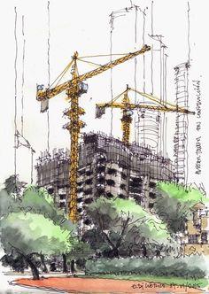 Croquiseros Urbanos: la ciudad a mano alzada en Argentina,Eduardo Di Clérico - Ciudad autónoma de Bs. As. Image vía Croquiseros urbanos - Bs.AS.