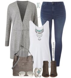 """40 Likes, 1 Comments - Plus Size Blogger Alexa Webb (@alexawebbfashion) on Instagram: """"Just blogged! Plus Size Grey Cardigan Outfits. Plus a discount code to get 40% off any…"""""""