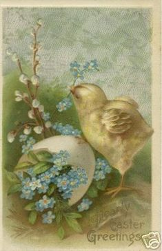 Good Evening ladies, thank you so much for the beautiful grey art today. Tonight and Tuesday, let's pin VINTAGE EASTER GREETINGS. Enjoy!