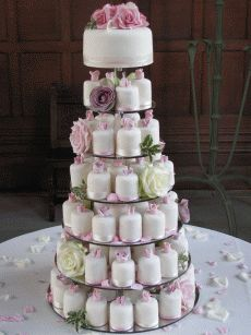 cupcake wedding cake :)
