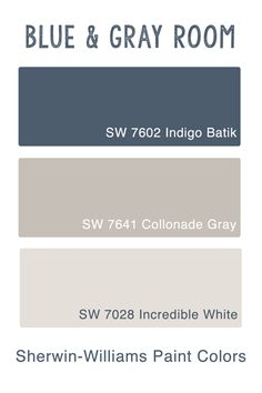 blue and gray room Inspiration -sherwin williams paint colors