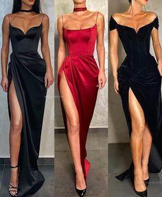 Pretty Prom Dresses, Glam Dresses, Elegant Dresses, Beautiful Dresses, Fashion Dresses, Winter Prom Dresses, Red Formal Dresses, Prom Outfits, Mode Outfits