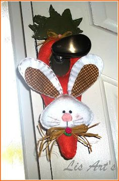 LIS ART'S Fuxico: coelho para fechadura de porta