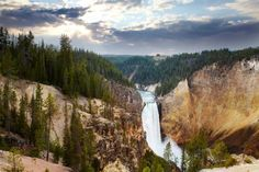 Overview of Lower Yellowstone Falls at Yosemite National Park.