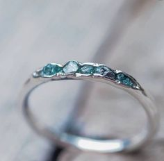 Hidden raw diamond ring, sterling silver, blue diamonds - dainty stacking ring- Tap the link now to see our super collection of accessories made just for you! Cute Jewelry, Jewelry Accessories, Jewelry Design, Silver Jewelry, Jewelry Rings, Gold Jewellery, Jewelry Ideas, Pandora Jewelry, Jewellery Shops