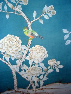 Exquisite hand painted wallpaper, hand painted fabrics, Oriental Hand-painted Art & Design Studio presenting better hand painted wallpaper, chinoiserie wallpaper for you. Chinese Wallpaper, Silk Wallpaper, Hand Painted Wallpaper, Painting Wallpaper, Pattern Wallpaper, Wallpaper Ideas, Tissu Chinoiserie, Chinoiserie Wallpaper, Mosaic Art