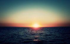 Sunset at Sea - Optimised for the Retina display - 2880 x 1800