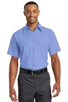 Red Kap Short Sleeve Solid Ripstop Shirt SY60 Light Blue