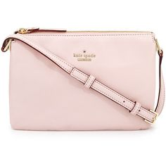 kate spade new york ivy place gabriella crossbody bag (9,610 DOP) ❤ liked on Polyvore featuring bags, handbags, shoulder bags, purses, rosy dawn, purse crossbody, crossbody purse, pink shoulder handbags, pink purse and handbags shoulder bags