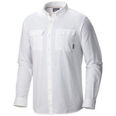 A long-sleeve, lightweight shirt designed for comfort on summer days and nights when gentle breezes cool things down. It's made from a unique ripstop fabric that Mountain Hardwear developed, which combines the strength of 53% linen and the softness of 47% cotton, so it's durable but wears easily. Simple and versatile, it's perfect for camping, traveling, or around town.