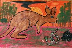 Learn about the intriguing culture and religion of the Australian Aboriginal people with this Australian Aboriginal art for kids lesson plan and project. Aboriginal Art For Kids, Aboriginal People, Lessons For Kids, Art Lessons, 2nd Grade Art, Dot Painting, Art Projects, Moose Art, Religion