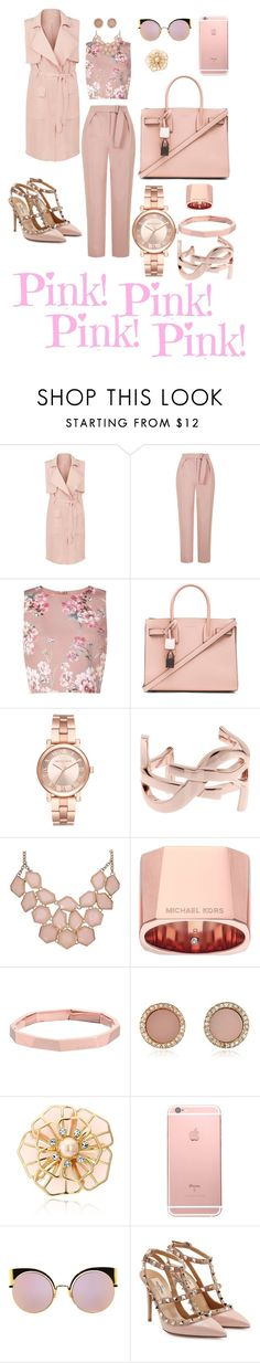 """Untitled #266"" by gorgeouslor ❤ liked on Polyvore featuring New Look, Topshop, Miss Selfridge, Yves Saint Laurent, Michael Kors, Kate Spade, Fendi and Valentino"