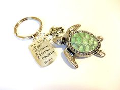 Mother Daughter Gift Mother Daughter Green Keychain by YoursTrulli #seaturtlekeychain #seaturtle #keychain #motherdaughter