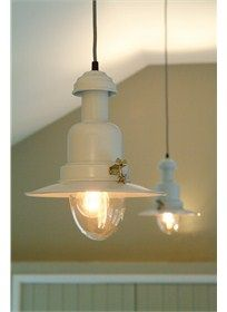 Vintage style sand coloured ceiling light perfect for adding retro style to any room in the home.Also available in matt black.Brighten your home with this fisherman style ceiling light with glass dome. Pendant Lamp, Pendant Lighting, Lantern Lighting, Industrial Lighting, Light Pendant, Fish Lamp, Fishing Lights, Driftwood Mirror, Key Largo