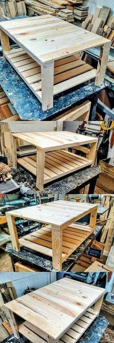 DIY Wooden Pallets Banch (2) #wooden #furniture #diy