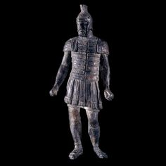 Bronze Statuette of a Legionary. Roman, 2nd century AD. British museum.