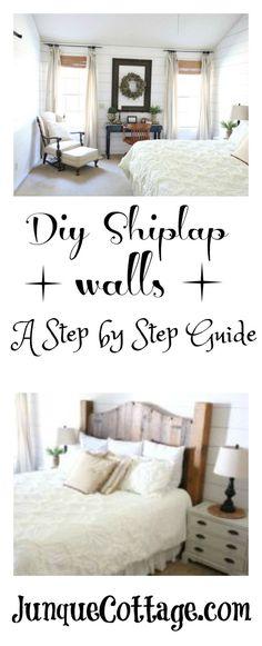 shiplap master bedroom